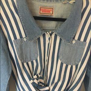 Vintage denim button down shirt